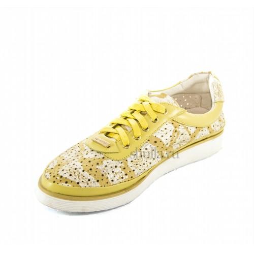 001 кроссовки женские. женские желтые кожаные кроссовки Vasconte на шнурках купить в интернет-магазине Шулла недорого (1)-500x500