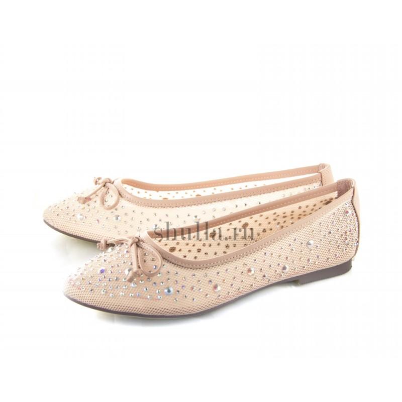0112 женская обувь, женские розовые кожаные балетки (1)-800x800