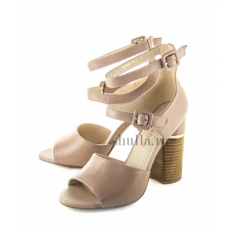 0116 женская обувь, женские бежевые кожаные туфли-босоножки Sasha Fabiani (1)-800x800