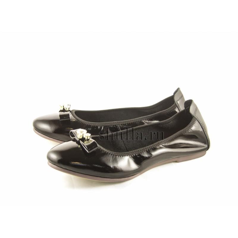 0281 женская обувь, женские черные лаковые балетки (1)-800x800