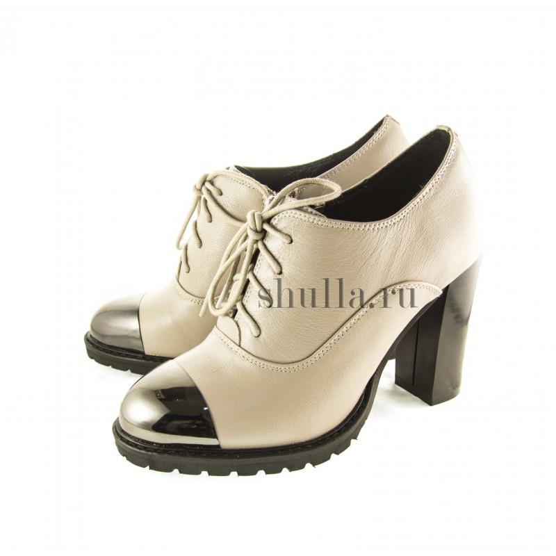 0988 женская обувь , женские бежевые кожаные ботильоны (1)-800x800
