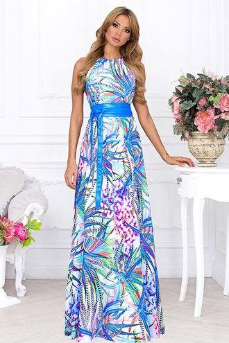 Длинное платье на дубровке